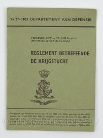 Handboek Reglement Betreffende De Krijgstucht VS 27-3103 - origineel