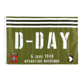 Vlag Operation Overlord D-Day 6 June 1944 82nd Airborne Division & 101st Airborne Division
