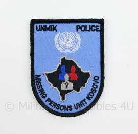 United Nations UNMIK Police Missing Persons Unit Kosovo - met klittenband - 8 x 6 cm