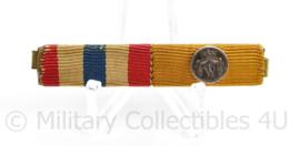 Nederlandse baton medailles  Ereteken Orde en Vrede en onderscheidingsteken voor Trouwe dienst zilver Wilhelmina -  6 x 1 cm - origineel