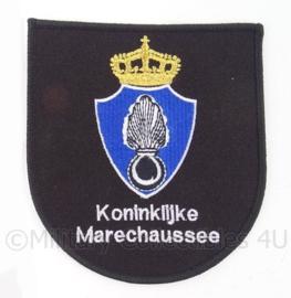 KMAR Koninklijke Marechaussee borst embleem - ZWART - 11,5 x 10,5 cm