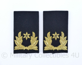KMAR Koninklijke Marechaussee epauletten schouderstukken set - Brigadegeneraal - origineel