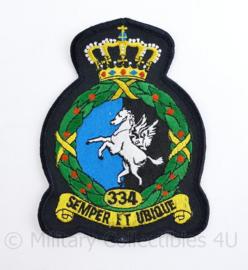Klu Luchtmacht embleem 334 Squadron - 13,5 x 10 cm - origineel