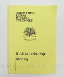 Commando Korps Mobiele Colonnes instructieboekje - Redding - afmeting 10 x 15 cm - origineel