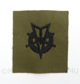 KL Landmacht vaardigheids embleem MLV Militaire Lichamelijke Vaardigheden - afmeting 7,5 x 8,5 cm - origineel