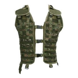 Tactical MOLLE vest zonder tassen - Digital camo - verstelbare maat