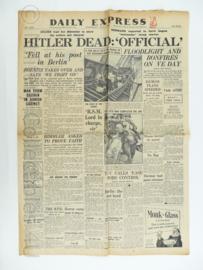 Daily Express krant - May 2, 1945 - origineel