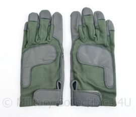 Klu Luchtmacht en Defensie kort model nieuwe lederen handschoenen Nomex - maat Large - origineel