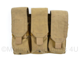 Nederlands leger Diemaco Colt C7 triple mag pouch coyote - maker Profile Equipment - 19 x 25,5 x 4 cm - origineel