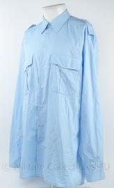 Nederlandse politie overhemd blauw zonder emblemen - lange mouwen - maat 41-3 - origineel