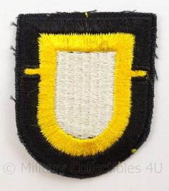 US Army 101st Airborne Division 1st Battalion Cap patch - Vietnam net naoorlogs en later - afmeting 5 x 6 cm - origineel