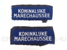 KMAR straatnamen set - geknipt van uniform - Origineel