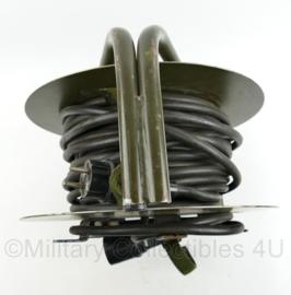 Dikke 230 V kabel op haspel - 38 x 38 x 20 cm - origineel