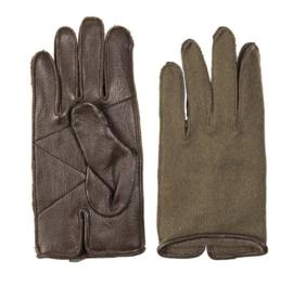 Wool glove met leren handpalm - WO2 US model - origineel net naoorlogs