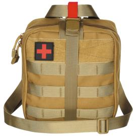 Medische tas geneeskundige dienst BLS IFAK Bag MOLLE - LARGE - 21 x 22 x 12 cm. - nieuw gemaakt - COYOTE