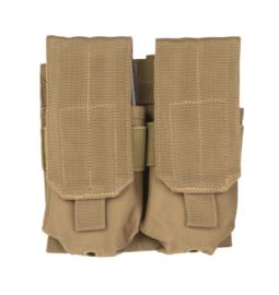 Magazijntas Double M4/M16 Magazin pouch koppeltas - MOLLE draagsysteem - 16 x 5 x 17 cm - COYOTE