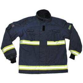 Nederlandse nieuw model brandweerjas VDP Pyrotec donkerblauw met gele reflectie - Small - origineel