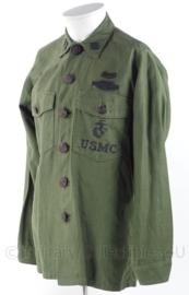 USMC US Marine Corps Fatique shirt met lange mouw - maat 15 1/2 x 33 - origineel