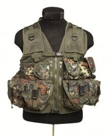 Tactical vest met 9 tassen - flecktarn