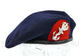 Korps Mariniers baret met insigne - maat 54 - gedragen - origineel