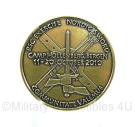 Nederlandse Defensie coin - 1 Ge NL Corps Exercise Nordic Sword October 2010- origineel