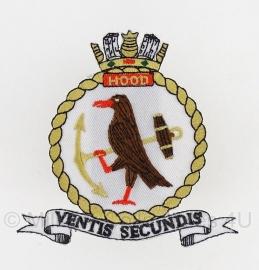 Brits HMS Hood Battle Cruiser embleem - origineel
