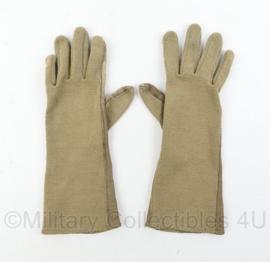 Defensie Nomex coyote handschoenen - gedragen - maat 9 - origineel