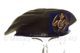 KL Nederlandse leger baret met insigne - Aan- en afvoertroepen - maat  57, 59, 60 of 61 - origineel
