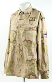Korps Mariniers desert camo basis jas - met ISAF en TFU BG10 Patch - maat 8000/9500 - origineel