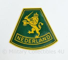 Defensie onbekend leeuw mouwembleem Nederland - 8 x 7 cm - origineel