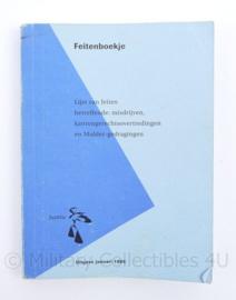 Justitie Feitenboekje 1995 - 13,5 x 10 x 1 cm - origineel