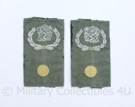 KL Nederlandse leger GVT epauletten schouderstukken set - Stafadjudant - origineel
