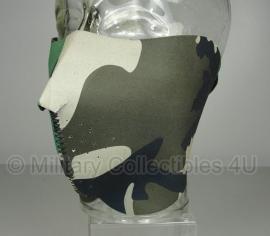 Mask half face - woodland camo