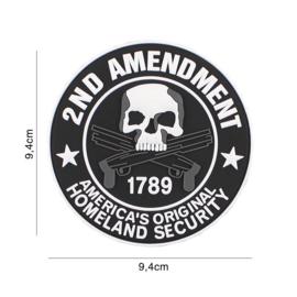 America's Original Homeland Security 1987 2nd Amendment embleem PVC - 9,4 x 9,4 cm