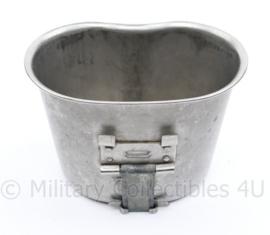US Army RVS Canteen Cup 1965 origineel Vietnam oorlog - 9,5 x 13,5 x 7,5 cm - origineel