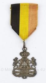 Belgische bronzen schietsport medaille - Origineel