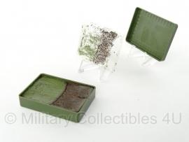 Nederlands leger schmink doosje groen - origineel