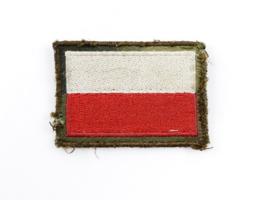 Poolse leger mouw vlag met klittenband - 4 x 5 cm - origineel