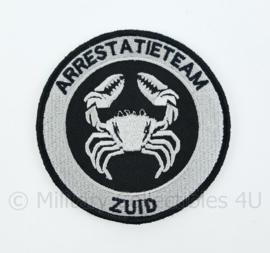 Nederlandse Politie Arrestatieteam Zuid embleem - met klittenband - diameter 9 cm