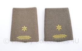 Defensie  epauletten voor de dikke wollen mantel- vorig model - rang Majoor - origineel