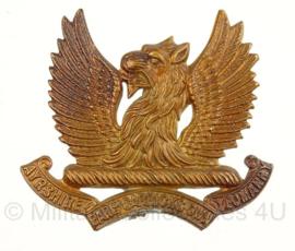 WO2 Brits baret embleem - The Ayrshire(Earl of Carricks) Own Yeomanry - pin afgebroken - origineel