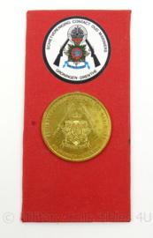 KM Marine Korps Mariniers Coin Schietvereniging oud mariniers Groningen Drenthe - afmeting totaal 8 x 16 cm - origineel