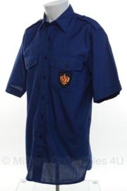 Nederlandse Brandweer overhemd met embleem BLAUW - korte mouw - maat Extra Large - origineel