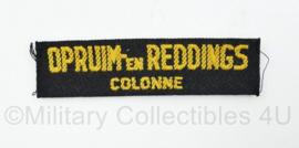 MVO straatnaam enkel Opruim-en Reddingscolonne  - 9,5 x 2,5 cm - origineel