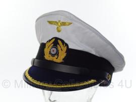 kriegsmarine schirmmutze  Wit - U boot officier - maat 57 tm. 59 cm