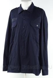 Brandweer kazerne tenue overhemd - lange mouw - donker blauw - maat 7090/1015 - origineel