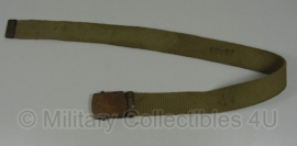 US officer khaki belt - kort - origineel WO2