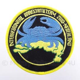 Internationaal Arrestatieteam Zuid-Nederland  embleem - met klittenband - diameter 9 cm