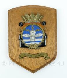 Koninklijke Marine wandbord - Squadron 860 - Arcens Affligo - afmeting 13 x 19 x 2 cm - origineel