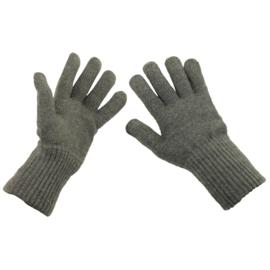 Handschoenen wol - grijs   - origineel